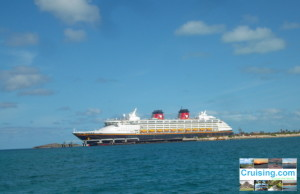 Disney Wonder at Castaway Cay over Spring Break