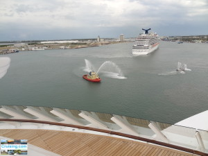 Port Canaveral from Disney Fantasy Maiden voyage