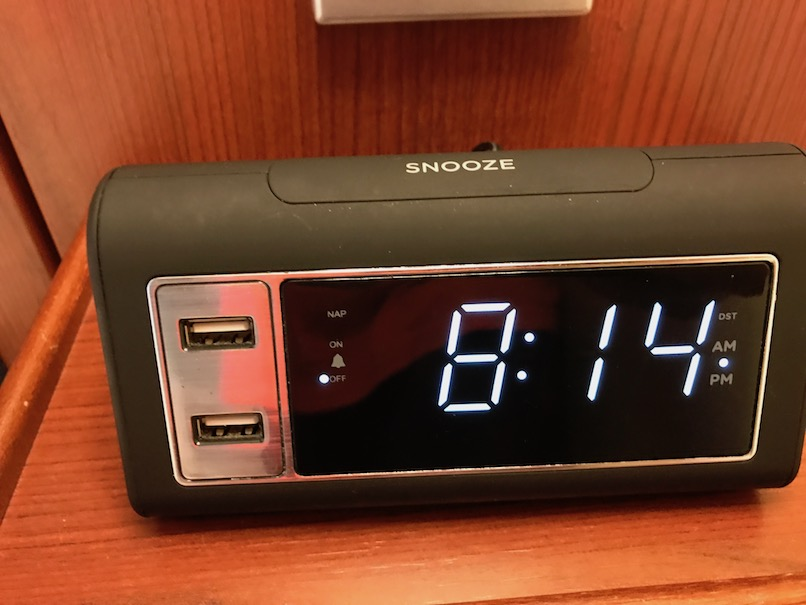 USB Clock radio for charging iPhone, Android - Disney Fantasy